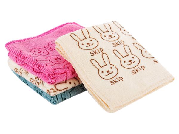 兔子小方巾30x30cm (1條入) 3色可選【D020434】擦手巾/清潔抹布