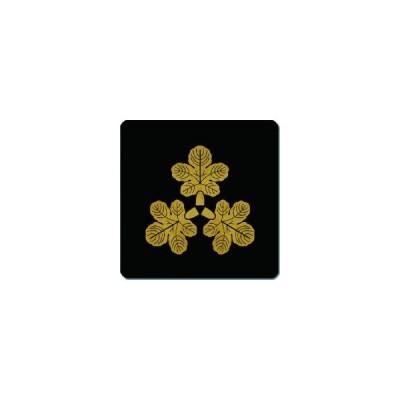 家紋シール 尻合わせ三つ梶の葉紋 24cm x 24cm KS24-1930