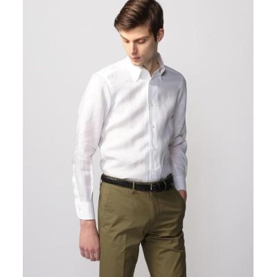 【トゥモローランド】 リネンシャンブレー ワンピースボタンダウン ドレスシャツ ONEPIECE−BD メンズ 11ホワイト S TOMORROWLAND
