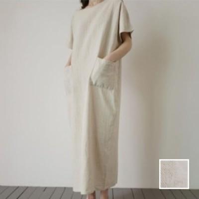 韓国 ファッション レディース ワンピース 夏 春 カジュアル naloI755  ゆったり リネン風 タイト マキシ丈 エレガント シンプル コーデ