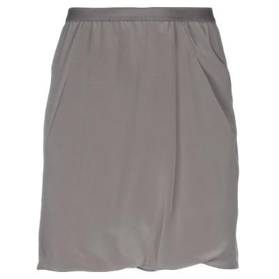 リック オウエンス RICK OWENS ひざ丈スカート 鉛色 40 シルク 100% ひざ丈スカート