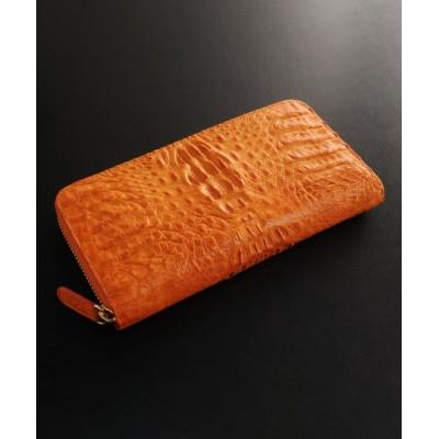 (sankyoshokai/サンキョウショウカイ)カイマンレザー長財布マット/ユニセックス オレンジ