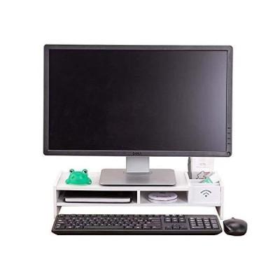 GY PCモニター台 幅48cm 奥行20cm 卓上 パソコンディスプレイ台 ロータイプ モニタースタンド 机上 机上台 引き出
