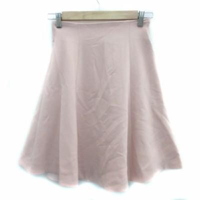 【中古】スナイデル snidel スカート フレア ひざ丈 無地 F ピンク /YS9 レディース