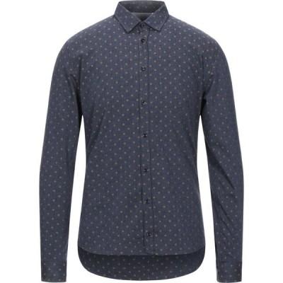 インディヴィジュアル INDIVIDUAL メンズ シャツ トップス patterned shirt Dark blue