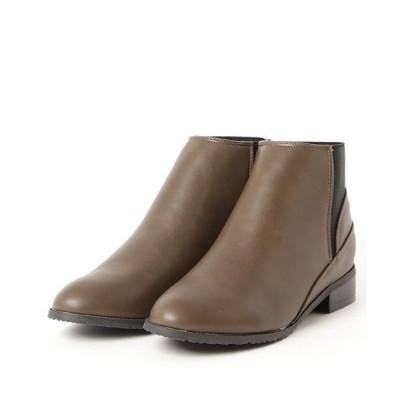 ブーツ minia /  バックゴアショートブーツ