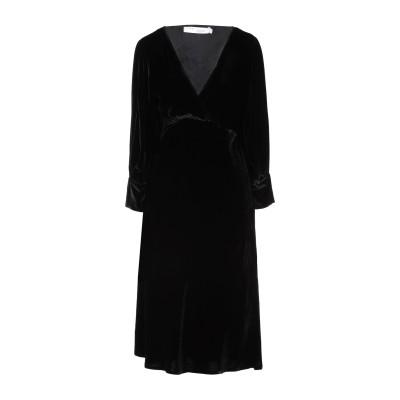イロ IRO 7分丈ワンピース・ドレス ブラック 40 レーヨン 82% / シルク 18% 7分丈ワンピース・ドレス