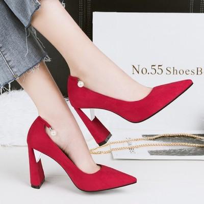 ヒール9.5cm/サイズ22-24.5cm パンプス  痛くない ハイヒール レディース  レディースシューズ 靴  パーティー 結婚式 リベット ベルト 美脚