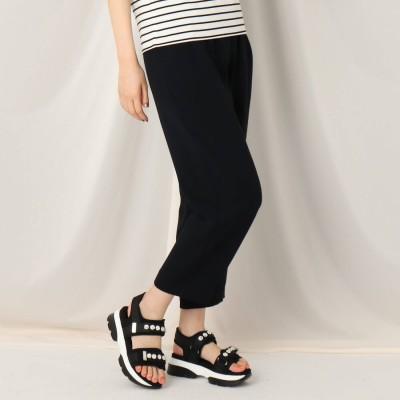 クチュール ブローチ Couture brooch アセテートポリエステルイージーパンツ (ブラック)