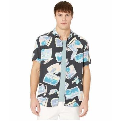 クイックシルバー シャツ トップス メンズ Vacancy Shirt Short Sleeve Black