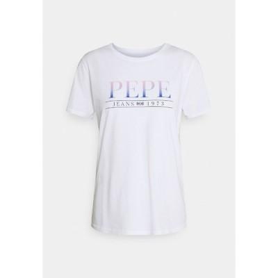 ペペジーンズ Tシャツ レディース トップス LISA - Print T-shirt - white