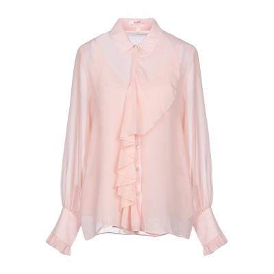 ブルーガール ブルマリン BLUGIRL BLUMARINE シャツ ライトピンク 40 ポリエステル 100% シャツ