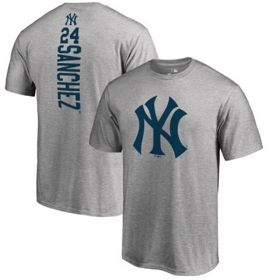 ファナティクス ブランデッド メンズ Tシャツ トップス Gary Sanchez New York Yankees Fanatics Branded Backer Name & Number T-Shirt
