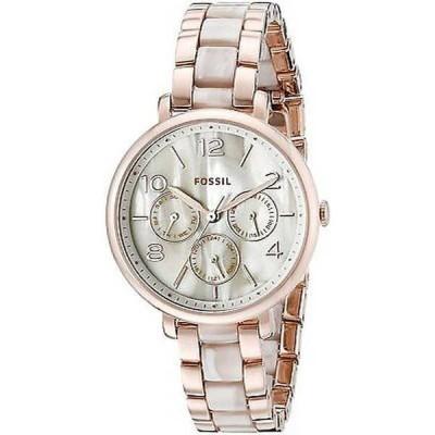 腕時計 フォッシル Fossil レディース ES3921 'Jacqueline' クロノグラフ ツートン ステンレス スチール 腕時計