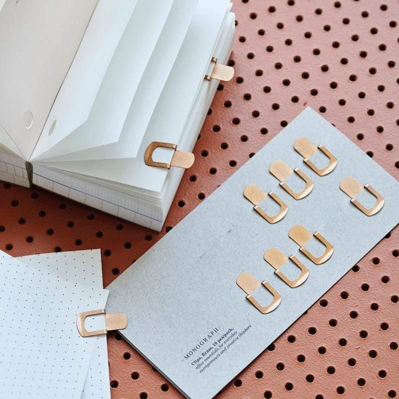 【預購】黃銅書籤夾 (10入組) 單一規格