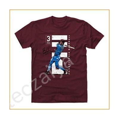 500 LEVEL Bryce Harper Shirt (Cotton, Medium, Maroon) - Philadelphia Men's Apparel - Bryce Harper Vertical WHT並行輸入品