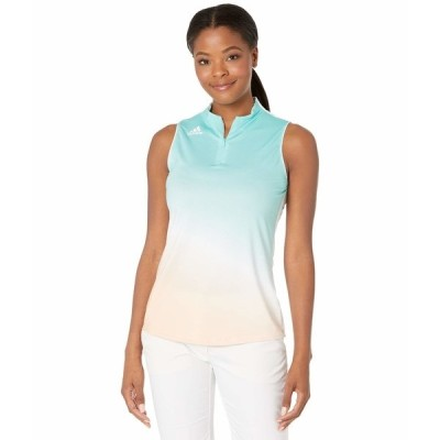 アディダス シャツ トップス レディース Sleeveless Aeroready Primegreen Polo Shirt Acid Mint