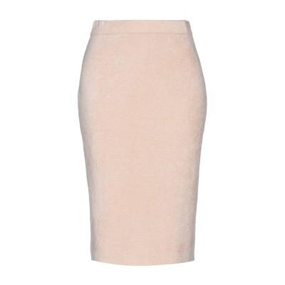 STEFANEL ひざ丈スカート ローズピンク L レーヨン 52% / ナイロン 48% ひざ丈スカート