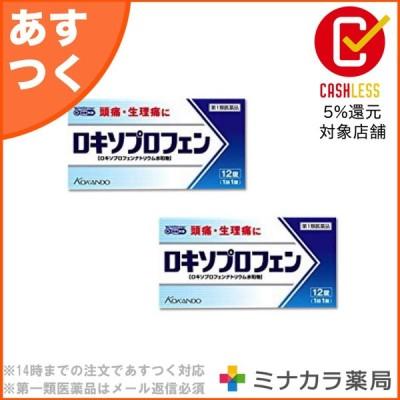 ロキソプロフェン錠「クニヒロ」12錠 ×2個セット 頭痛・生理痛に 痛み止め 解熱鎮痛剤 (第1類医薬品)