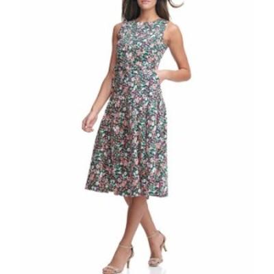 トミー ヒルフィガー レディース ワンピース トップス Sleeveless Cotton Garden Dress Coral Multi