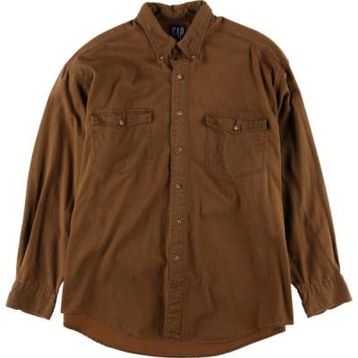 90年代 ギャップ GAP 長袖 ボタンダウンシャツ XL /eaa061132