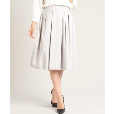 【スーペリアクローゼット/SUPERIOR CLOSET】 《大きいサイズ》タックフレアスカート