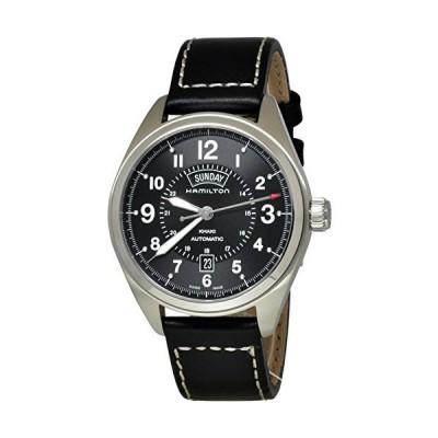 Hamilton Khaki Field Blacl Dial Black Leather Mens Watch H70505733【並行輸入品】
