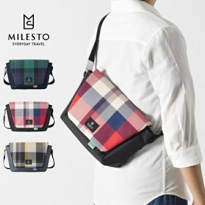 milest ミレスト Hutteシリーズ MLS768 メッセンジャーバッグ Sサイズ 2020 LIMITED チェック柄 ショルダーバッグ メンズ レディース ハロウィン プレゼント