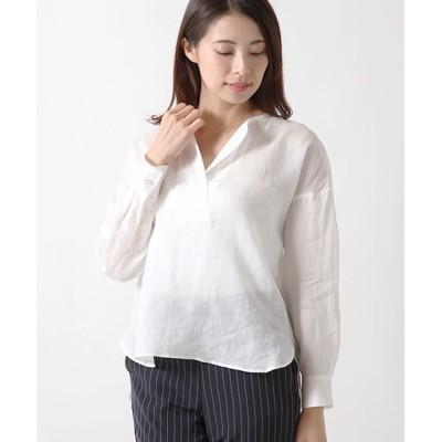 ANAYI/アナイ ラミーローンスキッパーシャツ シロ 38