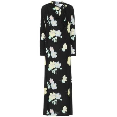 ベルナデッタ Bernadette レディース ワンピース ミドル丈 ワンピース・ドレス Jill floral jersey midi dress Flower Black