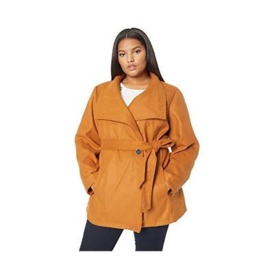 INTL d.e.t.a.i.l.s Women's Plus Size Faux Wool Fashion Jacket, Glazed Ginge