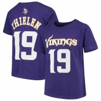 Outerstuff アウタースタッフ スポーツ用品  Adam Thielen Minnesota Vikings Youth Purple Mainliner Name & Number T-Sh
