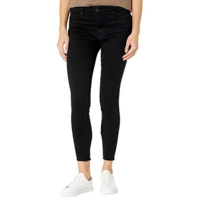 カットフロムザクロス レディース デニムパンツ ボトムス Connie High-Rise Fab AB Ankle Skinny with Fray Hem in Black