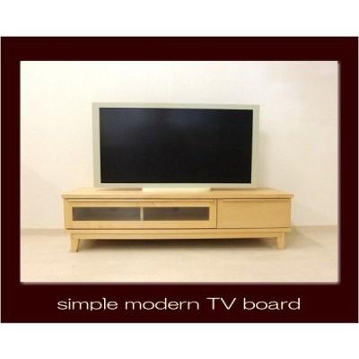 【送料無料】上品な質感のあるハードメープル材のモダンなTVボード