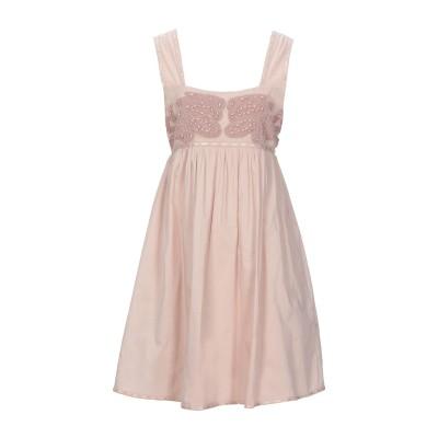 SCEE by TWINSET ミニワンピース&ドレス ベージュ L コットン 100% ミニワンピース&ドレス