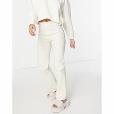 ウィークデイ Weekday レディース ジーンズ・デニム ボトムス・パンツ Voyage organic cotton high waist straight leg jeans in ecru エ