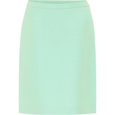 グッチ Gucci レディース ミニスカート スカート Silk and wool cady miniskirt Pastel Mint