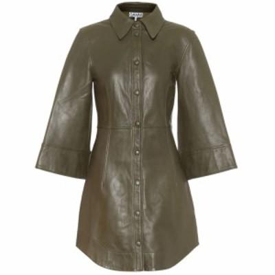 ガニー Ganni レディース ワンピース ワンピース・ドレス Leather minidress Kalamata
