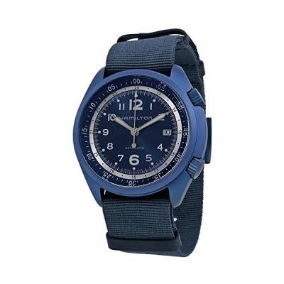 Hamilton ハミルトン メンズ 時計 腕時計 Khaki Aviation Pilot Pioneer Automatic Blue Dial Blue NATO Fabric Mens Watch H80495845【並行輸