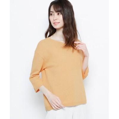 Airpapel/エアパペル 【ハンドウォッシュ】リネン混七分袖プルオーバー ライトオレンジ(066) 09(M/ミセス)