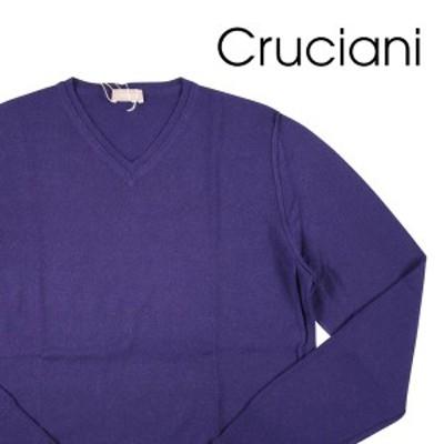 CRUCIANI(クルチアーニ) Vネックセーター CU12.011 パープル 52 20247pu 【W20249】