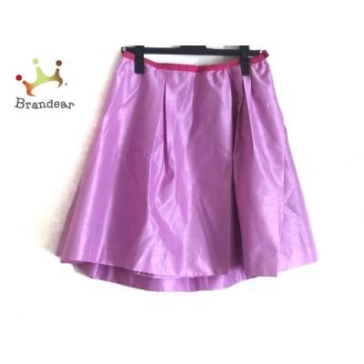 チェスティ Chesty スカート サイズ0 XS レディース 美品 - ピンク×レッド ひざ丈  値下げ 20201122