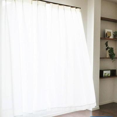 エアロカプセル×すずしや(R) 断熱レースカーテン ホワイト 100×133cm 2枚組 27022-100133 エコカーテン シンプル 保温 帝人 日よけ UVカット UVカーテン イン