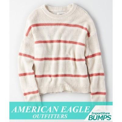 アメリカンイーグル セーター ニット 丸首 レディース ウィメンズ オーバーサイズ ドリームスパン トップス 新作 AEO