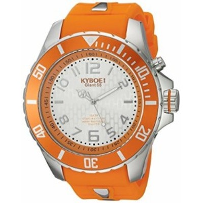 KYBOE! Power Quartz Stainless Steel and Silicone Casual Watch%カンマ% Color:Orange (Model: KY.55-045.15)