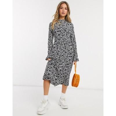 ミスセルフフリッジ レディース ワンピース トップス Miss Selfridge midi swing dress in black and white print