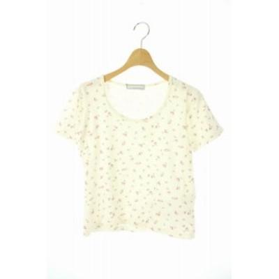 【中古】ロンハーマン Ron Herman テン TEN Tシャツ カットソー 花柄 プリント  XS 白 ピンク /YS ■OS レディース