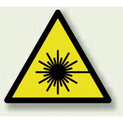 レーザ光 PP ステッカー 100×100 (安全用品・標識/安全標識/レーザ標識・放射能標識)