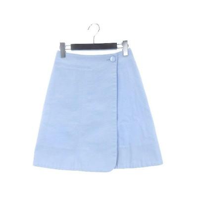 【中古】マディソンブルー MADISONBLUE 16SS ラップ スカート ミニ ライトブルー XS 210129E IBS93 レディース 【ベクトル 古着】