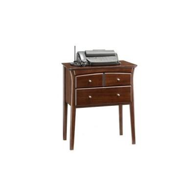 fax台 おしゃれ 電話台 木製 収納 幅63 コンソール 彩美73
